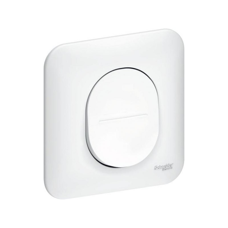 interrupteur simple allumage 10ax schneider electric ovalis. Black Bedroom Furniture Sets. Home Design Ideas