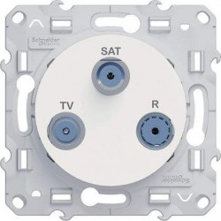 Prise TV/SAT/RF Schneider Odace