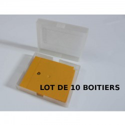 Lot de 10 boitiers transparents pour jeu gameboy