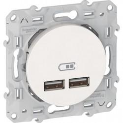 Schneider prise chargeur USB Odace
