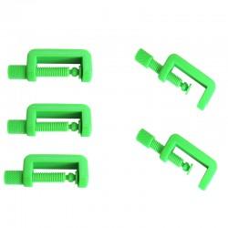 Lot de 5 petits serre joint PLA couleur vert. Fabriqué en Alsace.