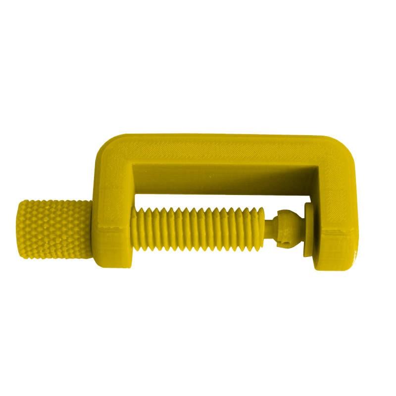 Petit Serre Joint PLA couleur dorée. Fabriqué en Alsace.