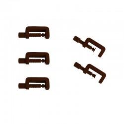 Lot de 5 petits serre joint PLA couleur marron. Fabriqué en Alsace.