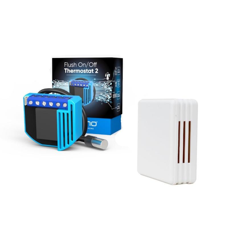PACK EDI - QUBINO Micro-Module On/Off Thermostat 2 + Sonde + Boitier