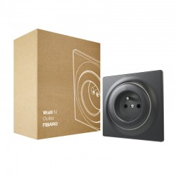FIBARO - Prise murale non connectée Walli N Outlet type E Anthracite