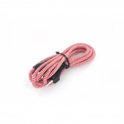 CHACON - Cordon textile avec interrupteur 2m Rouge et Blanc