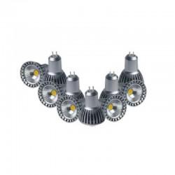 Pack 10 Ampoule LED COB GU5.3 MR16 12V 4W 4000-5500K