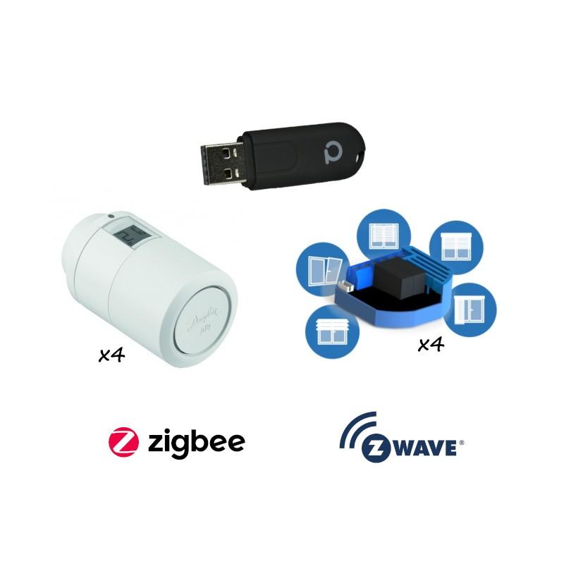 PACK EDI - Chauffage et volet roulant connectés ZigBee et Z-Wave Plus