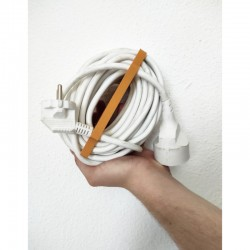 EDI - Enrouleur de câble manuel en PLA couleur Blanc