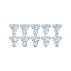 OSRAM - Lot de 10 ampoules LED GU10 4,3W Blanc Chaud