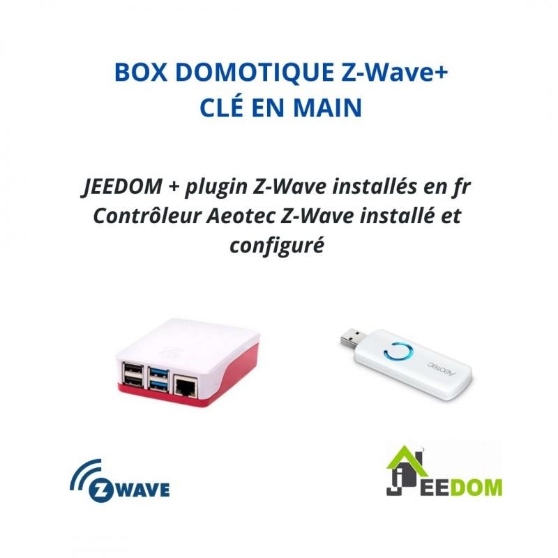 PACK EDI - Plus Pré-Configurée Box domotique Z-Wave Plus Jeedom